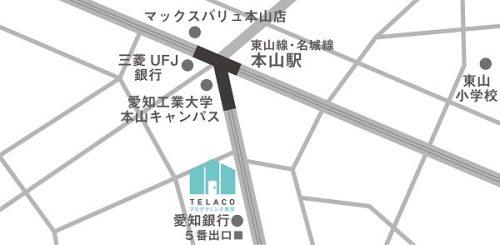 TELACO本山校 地図