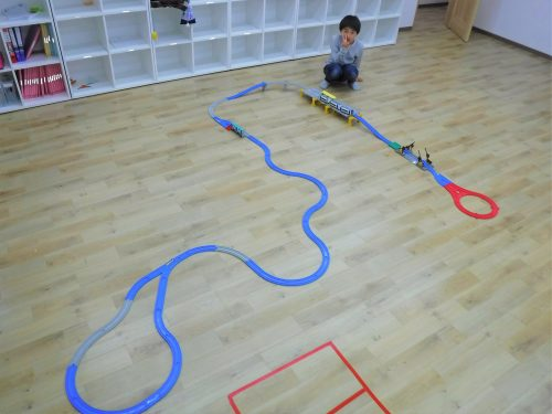 プレイルームが広いよ おもちゃ プラレール